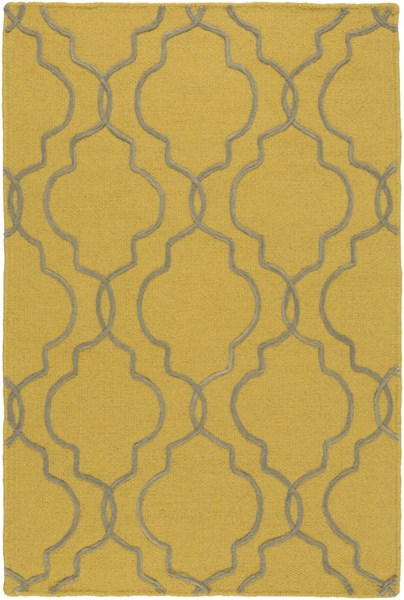 Seabrook Contemporary Gold Gray Fabric Area Rug (L 36 X W 24) SBK9014-23