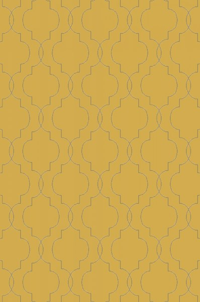 Seabrook Contemporary Gold Gray Fabric Area Rug (L 90 X W 60) SBK9014-576