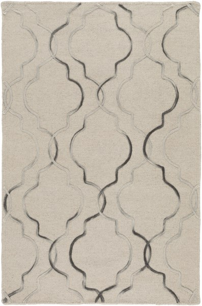 Seabrook Contemporary Light Gray Charcoal Fabric Area Rugs 12764-VAR1