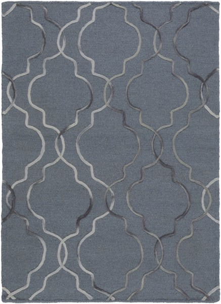 Seabrook Contemporary Slate Black Ivory Fabric Area Rug (L 36 X W 24) SBK9019-23