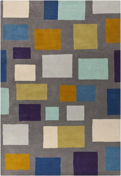 Scion Charcoal Cobalt Gold Wool Area Rug - 60 x 96 SCI14-58