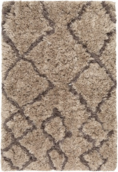 Scout Classic Taupe Mocha Cobalt Polyester Shag Rugs SCOUT-DCR-BNDL