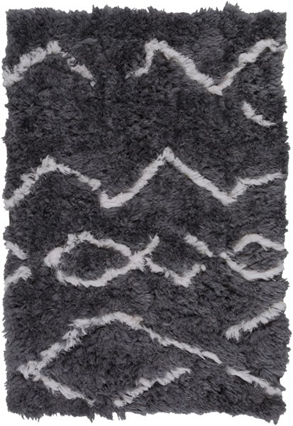 Scout Charcoal Light Gray Polyester Area Rugs 12837-VAR1