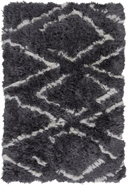 Scout Charcoal Polyester Area Rug - 24 x 36 SCO3004-23