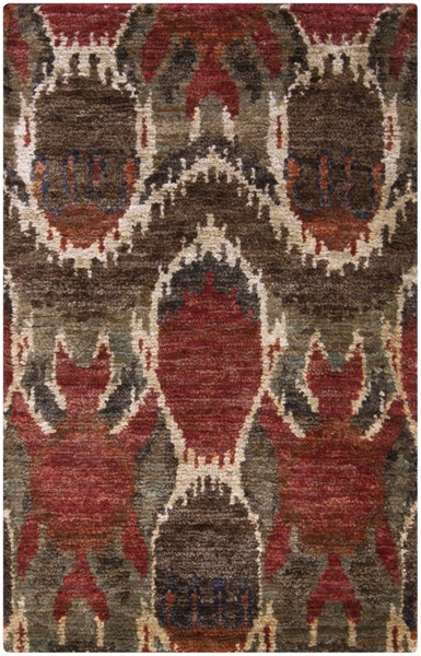 Scarborough Chocolate Ivory Beige Fabric Area Rug (L 63 X W 39) SCR5130-3353