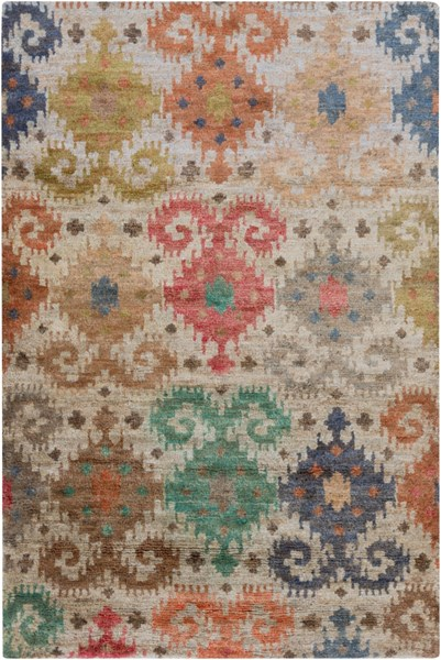 Scarborough Rust Green Olive Fabric Area Rug (L 96 X W 60) SCR5146-58