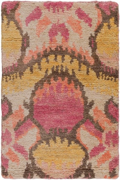 Scarborough Orange Rust Gray Fabric Area Rug (L 36 X 24) SCR5149-23