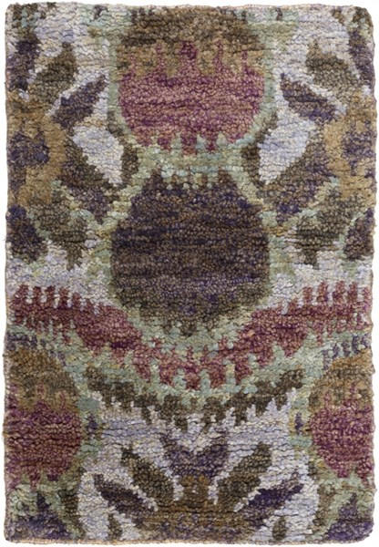 Scarborough Blue Taupe Chocolate Fabric Area Rug (L 36 X W 24) SCR5152-23