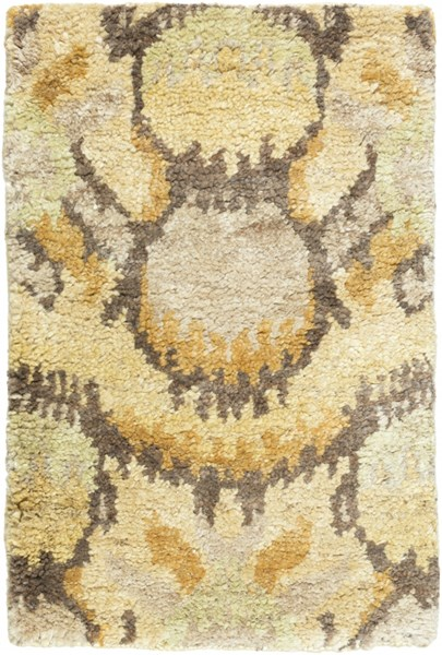 Scarborough Beige Lime Olive Fabric Area Rug (L 36 X W 24) SCR5153-23