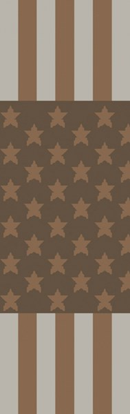 Scarborough Contemporary Gray Forest Mocha Fabric Runner (L 96 X W 30) SCR5155-268