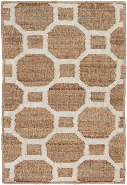 Seaport Contemporary Mocha Ivory Fabric Area Rugs 12744-VAR1