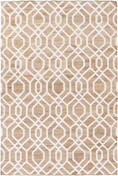 Seaport Mocha Ivory Fabric Geometric Area Rug (L 90 X W 60) SET3012-576