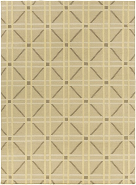 Sheffield Market Lime Olive Gold Fabric Area Rug (L 132 X W 96) SFM8007-811