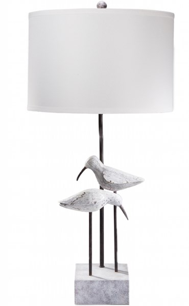 Seagull Washed Coastal Look Resin Linen Table Lamp - 15x31 SGLP-001