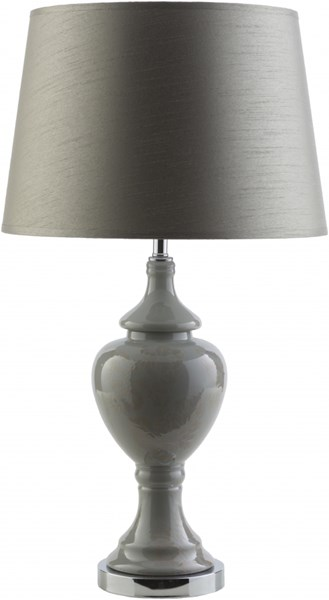 Shannon Contemporary Grey Ceramic Polyester Table Lamps 13921-VAR1