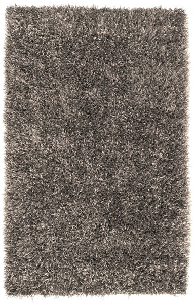 Shimmer Contemporary Light Gray Polyester Area Rug (L 96 X W 60) SHI5001-58