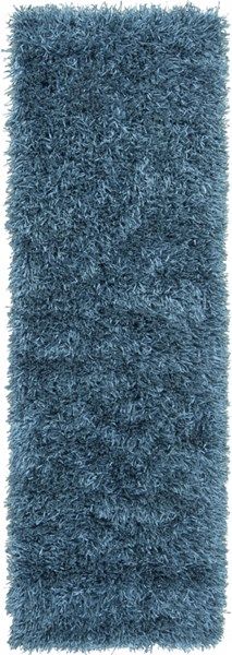 Shimmer Contemporary Teal Polyester Runner (L 96 X W 30) SHI5004-268