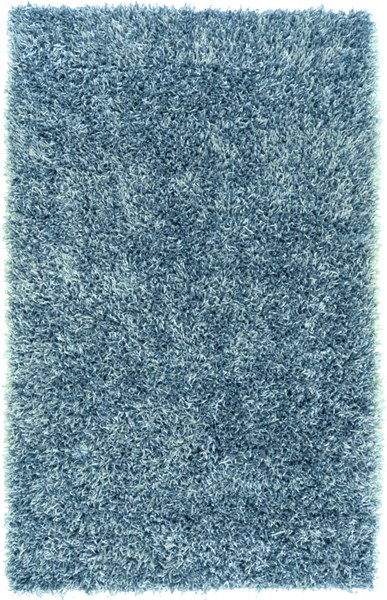 Shimmer Contemporary Teal Polyester Area Rug (L 96 X W 60) SHI5004-58