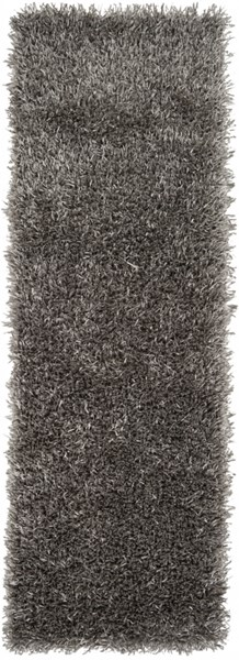 Shimmer Contemporary Gray Polyester Runner (L 96 X W 30) SHI5010-268