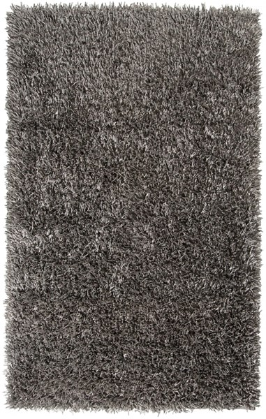 Shimmer Contemporary Gray Polyester Area Rug (L 96 X W 60) SHI5010-58