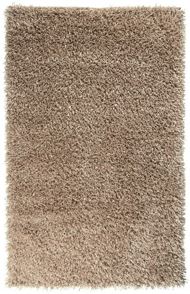 Shimmer Contemporary Beige Polyester Area Rug (L 96 X W 60) SHI5011-58