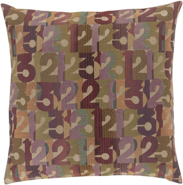 Shoop Olive Teal Beige Polyester Throw Pillow (L 20 X W 20 X H 5) SHP001-2020P