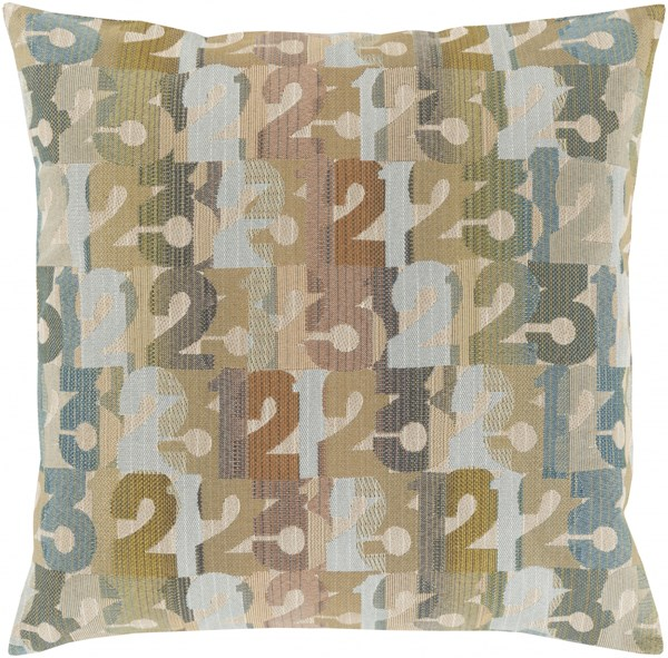 Shoop Olive Tan Beige Polyester Throw Pillow (L 20 X W 20 X H 5) SHP002-2020D