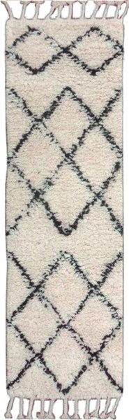 Sherpa Cottage Light Ivory Taupe Fabric Runners 12708-VAR1