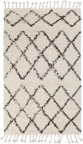 Sherpa Cottage Light Ivory Taupe Fabric Area Rug (L 90 X W 60) SHP8001-576