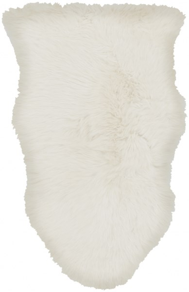 Sheepskin Cottage/Country Ivrory Area Rug (L 36 X W 24) SHS9600-23
