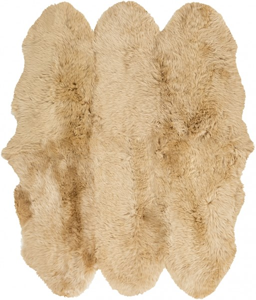 Sheepskin Rug Square: Sheepskin Gold Sheepskin Square Area Rug - 72 X 72
