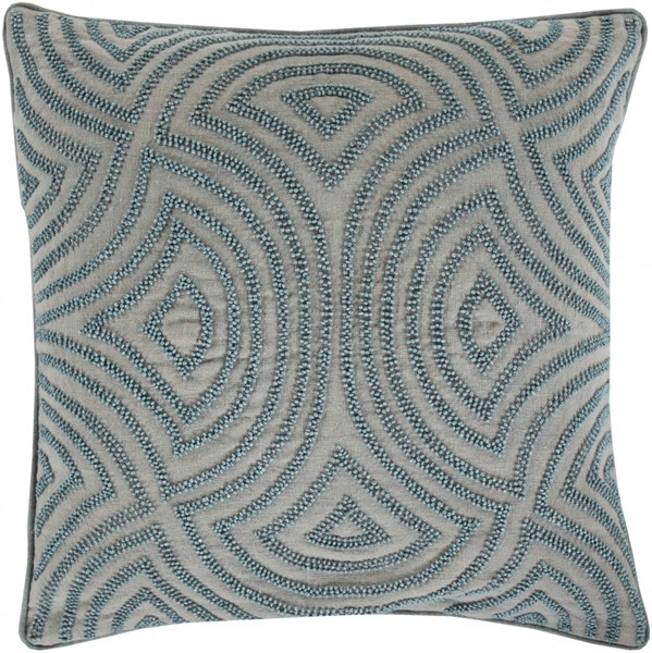 Skinny Dip Gray Coral Slate Fabric Throw Pillow (L 22 X W 22 X H 5) SKD001-2222D