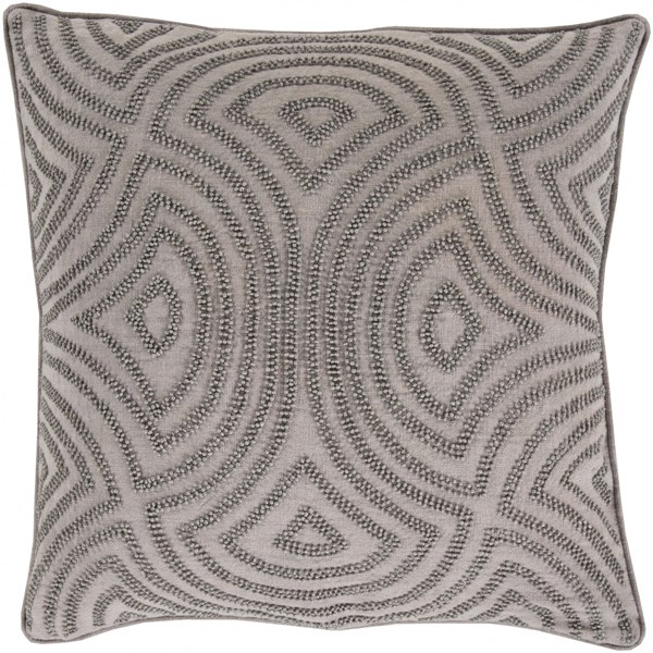 Skinny Dip Light Gray Fabric Square Throw Pillow (L 18 X W 18 X H 4) SKD003-1818P
