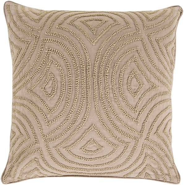 Skinny Dip Taupe Beige Fabric Throw Pillow (L 20 X W 20 X H 5) SKD004-2020D