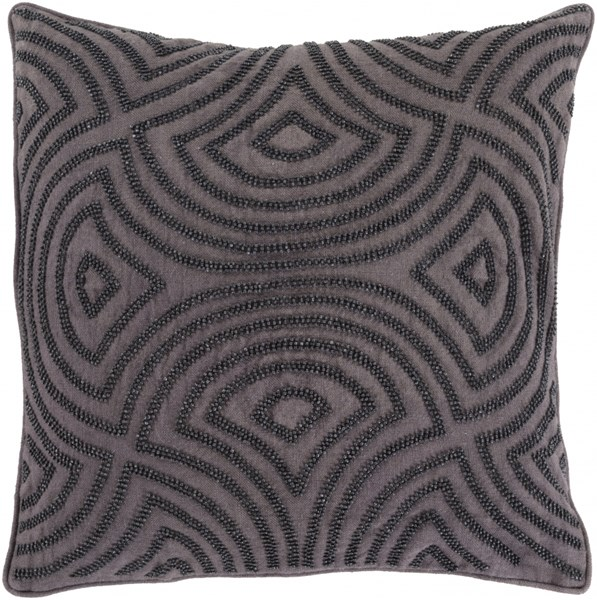 Skinny Dip Charcoal Fabric Square Throw Pillow (L 20 X W 20 X H 5) SKD005-2020P