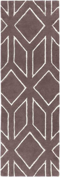 Skyline Contemporary Chocolate Light Gray Fabric Runner (L 96 X W 30) SKL2001-268
