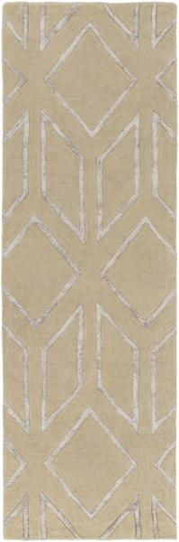Skyline Light Gray Fabric Hand Tufted Runner (L 96 X W 30) SKL2002-268