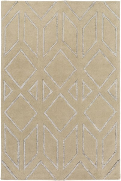 Skyline Light Gray Fabric Geometric Area Rug (L 90 X W 60) SKL2002-576