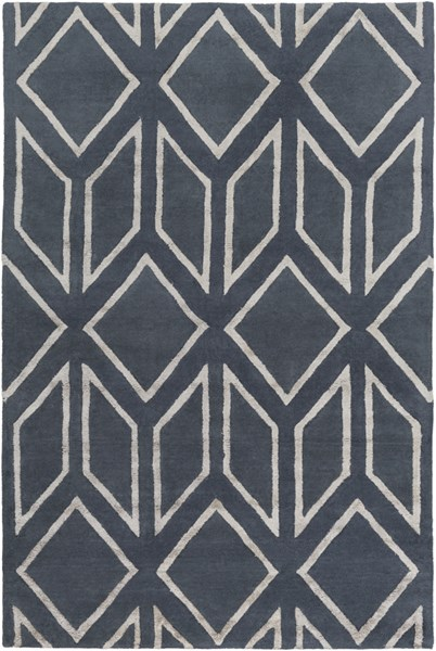 Skyline Contemporary Navy Light Gray Fabric Area Rug (L 90 X W 60) SKL2004-576
