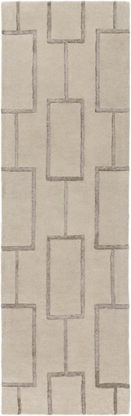 Skyline Contemporary Beige Charcoal Fabric Runners 12799-VAR1