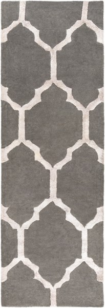 Skyline Contemporary Charcoal Light Gray Fabric Runner (L 96 X W 30) SKL2011-268