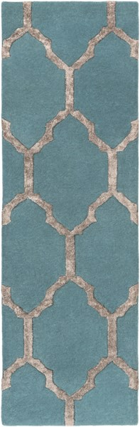 Skyline Contemporary Teal Olive Fabric Runner (L 96 X W 30) SKL2013-268