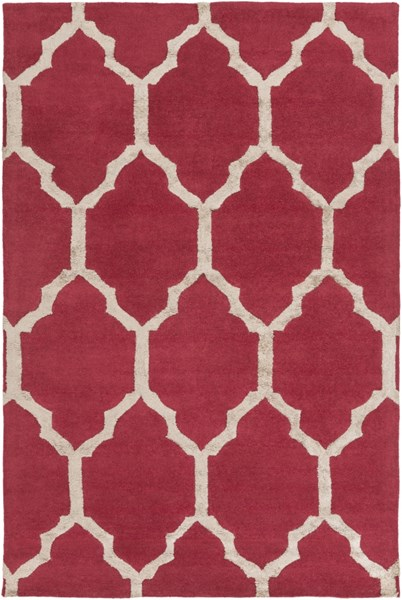 Skyline Burgundy Taupe Fabric Hand Tufted Area Rug (L 90 X W 60) SKL2015-576