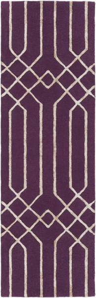 Skyline Eggplant Taupe Fabric Hand Tufted Runner (L 96 X W 30) SKL2017-268