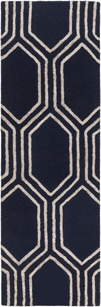 Skyline Contemporary Navy Taupe Fabric Runners 12802-VAR1