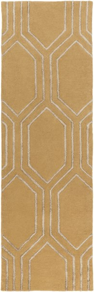 Skyline Contemporary Gold Gray Fabric Runner (L 96 X W 30) SKL2022-268