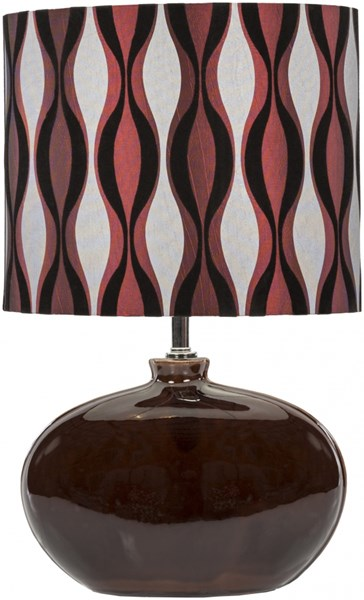 Stockton Contemporary Chocolate Ceramic Polyester Fabric Table Lamp 14338-VAR1