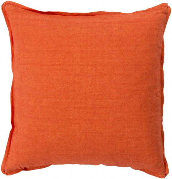 Solid Poppy Fabric Throw Pillow (L 20 X W 20 X H 5) SL003-2020P