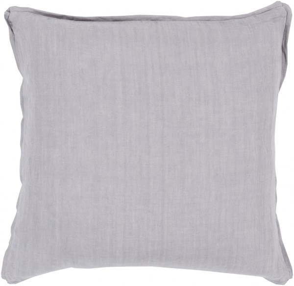 Solid Contemporary Slate Fabric Throw Pillow (L 22 X W 22 X H 5) SL004-2222D
