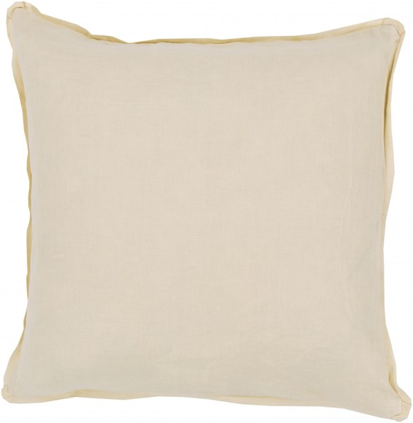 Solid Gold Fabric Throw Pillow (L 20 X W 20 X H 5) SL005-2020P